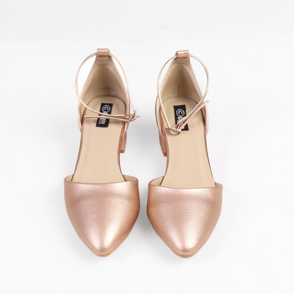 Foot Wear,Rose Gold Block Heels - Cippele Multi Store