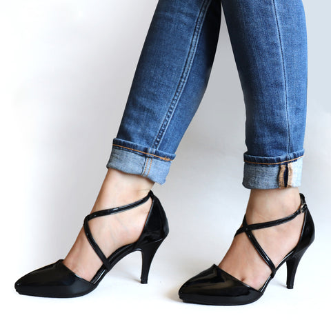 Foot Wear,Uptown Life Black Heels - Cippele Multi Store