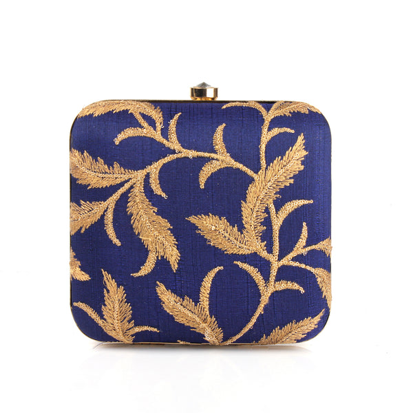 Clutch,Blue Stow Square Clutch - Cippele Multi Store