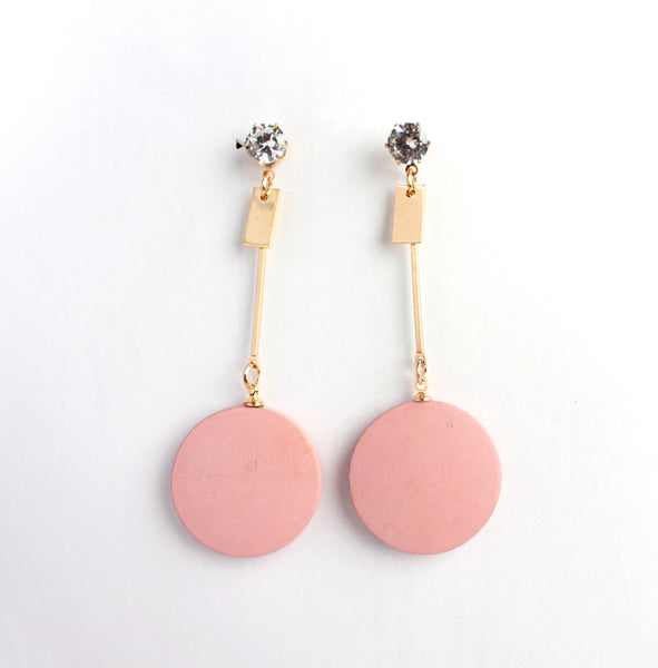 Earrings,Hang in there Pink Earrings - Cippele Multi Store