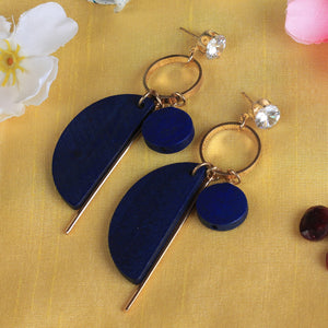 Earrings,Better Half Blue Earrings - Cippele Multi Store