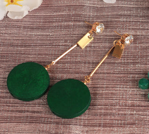 Earrings,Hang in there Green Earrings - Cippele Multi Store
