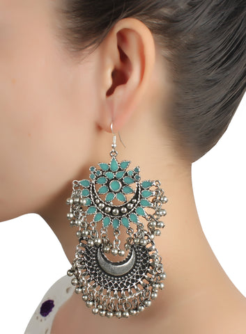 Earrings,Nonchalant Me Blue Jhumkas - Cippele Multi Store