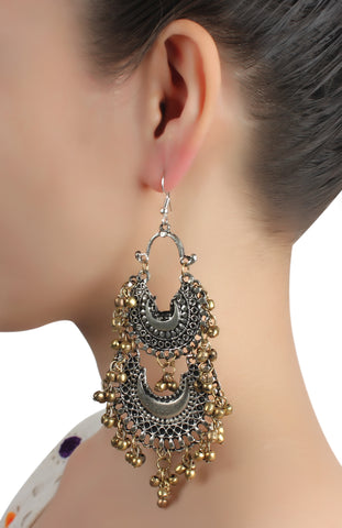 Earrings,Nonchalant Me Silver Jhumkas - Cippele Multi Store