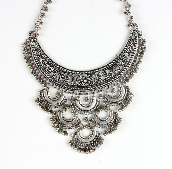 Necklace,Silver Charm Necklace - Cippele Multi Store