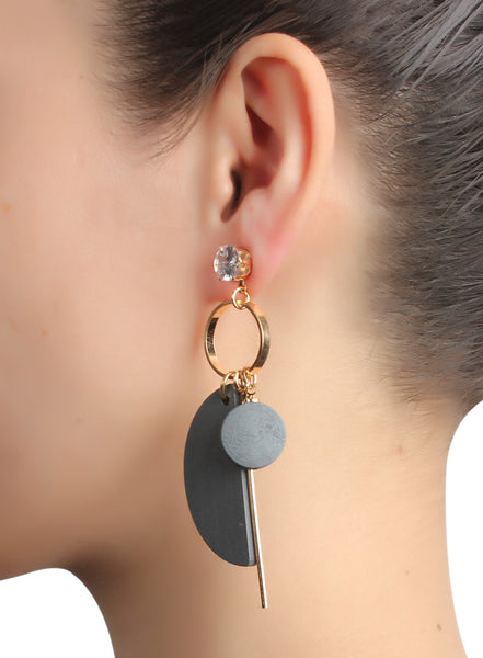Earrings,Better Half Grey Earrings - Cippele Multi Store