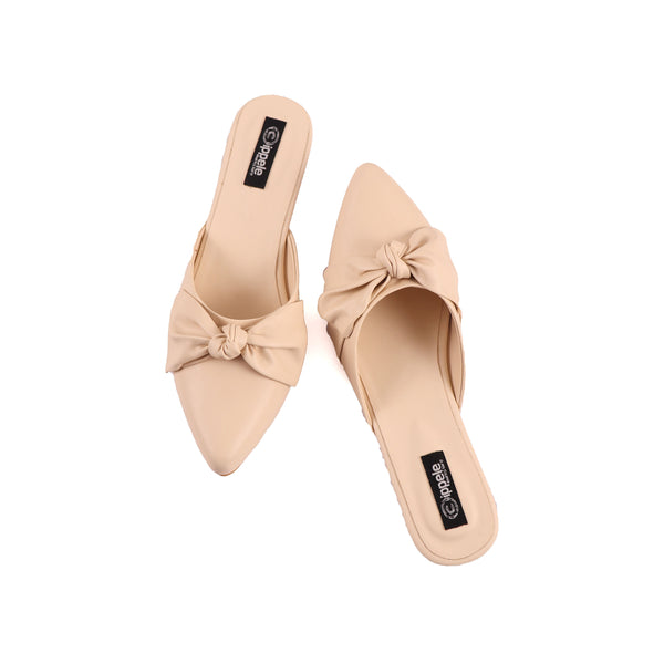 The Charismatic Bow Mules in Cream