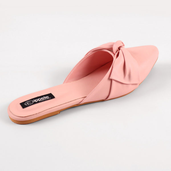 Foot Wear,The Charismatic Bow Mules in Pink - Cippele Multi Store
