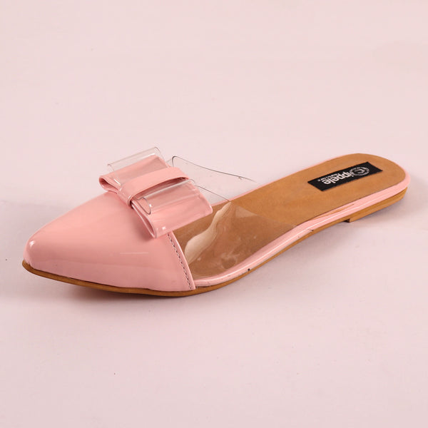 The Finska Cookie Ribbon Mules in Baby Pink