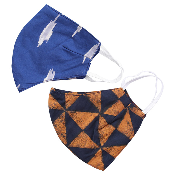 The Sassy Patched & The Elegant Triangles Face Mask- Set of 2