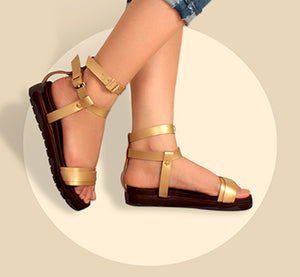 Foot Wear,Stay Strong Bronze Flatforms - Cippele Multi Store