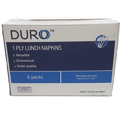 Duro 1 Ply Lunch Napkins GT Fold (White) 3000