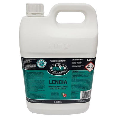 Citrus Resources | Lencia 750ml Bathroom Cleaner and Maintainer | Crystalwhite Cleaning Supplies Melbourne