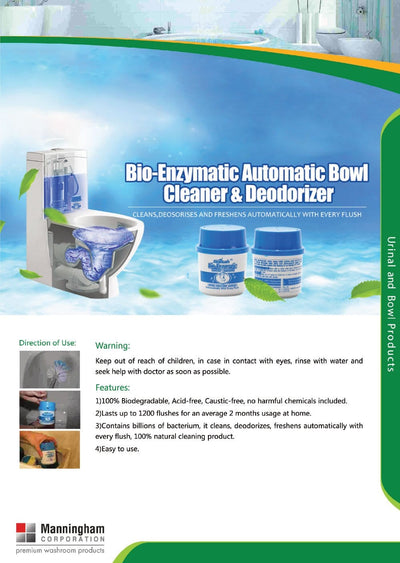 Manningham Corporation | Blue Bio Toilet Cleaner and Deodoriser | Crystalwhite Cleaning Supplies Melbourne
