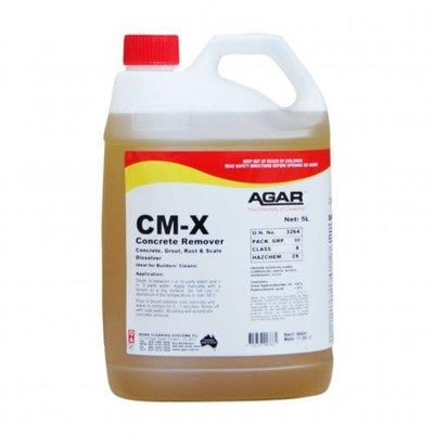 Agar | CM-X Concrete Remover Builders Clean 5Lt | Crystalwhite Cleaning Supplies Melbourne