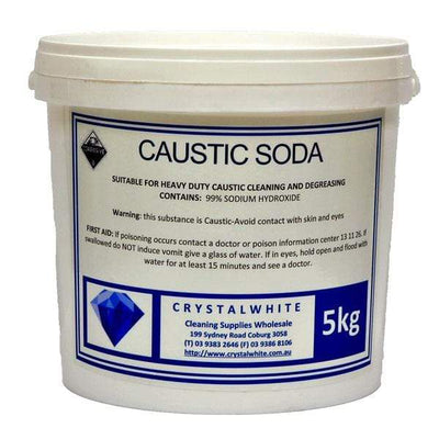 Crystalwhite Cleaning Supplies | Caustic Soda Pearl 5Kg or 25Kg | Crystalwhite Cleaning Supplies Melbourne