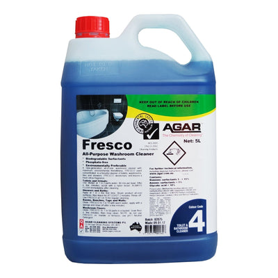 Agar | Agar Fresco 5Lt All in One Washroom Cleaner BIODEGRADABLE | Crystalwhite Cleaning Supplies Melbourne