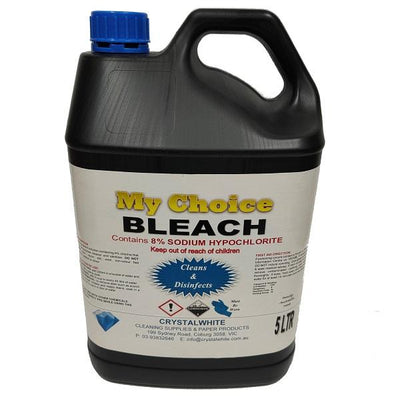 Crystalwhite Cleaning Supplies | Bleach 8% Sodium Hypochlorite | Crystalwhite Cleaning Supplies Melbourne