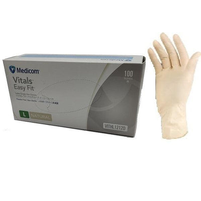 Crystalwhite Cleaning Supplies | Medicom Vital Latex Gloves Powdered Free | Crystalwhite Cleaning Supplies Melbourne