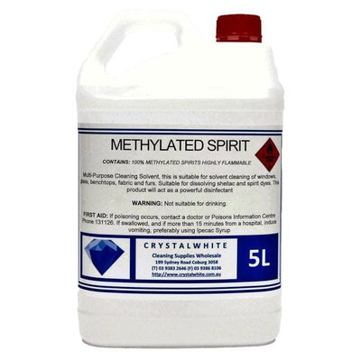 Crystalwhite Cleaning Supplies | Methylated Spirits 5Lt or 25Lt | Crystalwhite Cleaning Supplies Melbourne