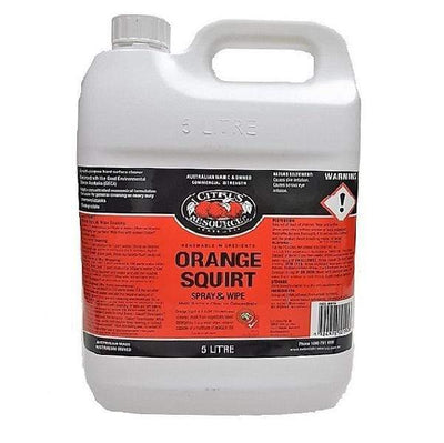 Citrus Resources | Orange Squirt 5Lt Spray and Wipe | Crystalwhite Cleaning Supplies Melbourne