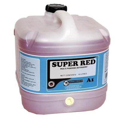 Tasman | Super Red 5Lt or 15Lt Multi Purpose Detergent | Crystalwhite Cleaning Supplies Melbourne