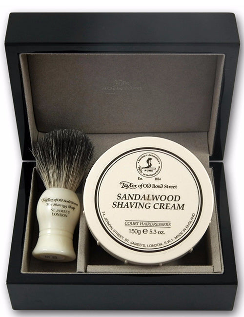 Taylor of Bond Street Badger Brush & Sandalwood Gift Set