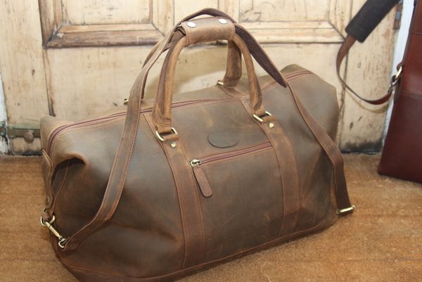 Full Leather Weekend Bag