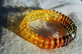 Amber bracelet, faceted and round beads,  sparkling gift - UAB Amber