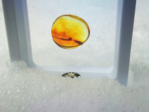 Baltic amber stone, light cognac color,  gem gift - UAB Amber