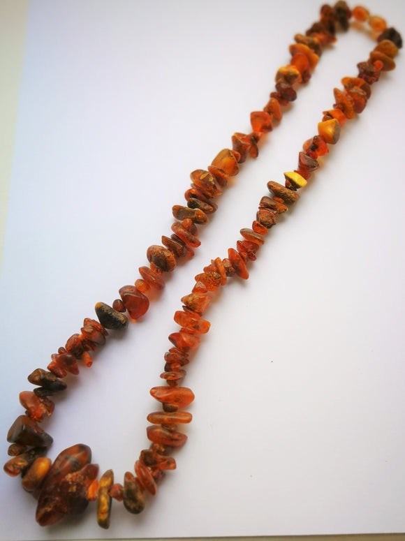 Untreated amber necklace,Natural amber necklace, long amber necklace,simple amber,raw amber,amber asthma,amber adult necklace - UAB Amber