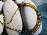 Green amber Cleopatra necklace, faceted beads, elegant choker necklace, genuine gift - UAB Amber