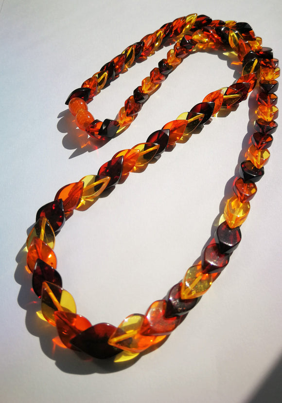 Short Baltic amber necklace,  natural multicolor amber, San Marco necklace,simple necklace, gift - UAB Amber