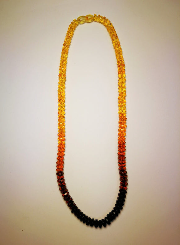 Short amber necklace, real Baltic amber, sparkling elegant necklace, unisex gift - UAB Amber