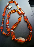 Long Baltic amber necklace,cognac amber beads,natural amber necklace, янтарные бусы - UAB Amber