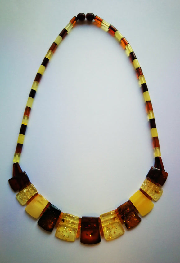 Classical Baltic amber necklace, Cleopatra necklace,  choker necklace, elegant gift - UAB Amber
