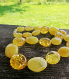 Classical  Baltic amber necklace, butterscotch olive necklace,untreated,  琥珀色, كهرمان - UAB Amber