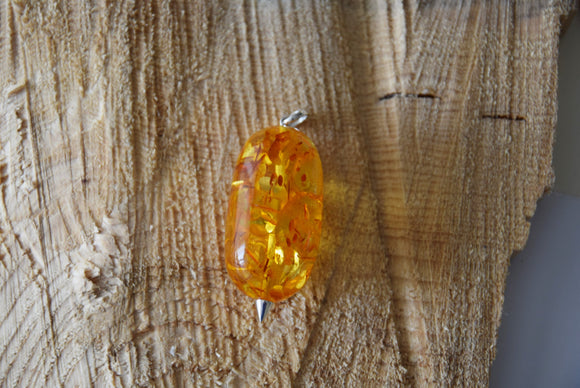 Baltic amber pendant,large amber stone,cognac amber, natural amber gift - UAB Amber