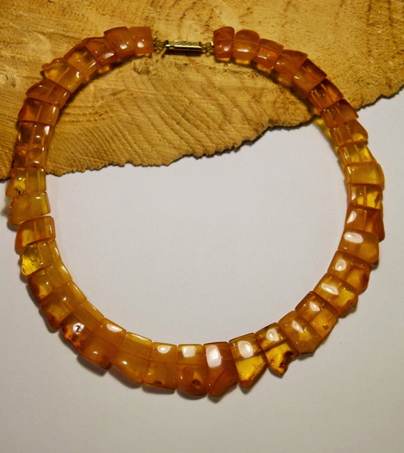 Baltic amber choker,statement necklace,unpolished amber,natural amber, vintage necklace,amber gift