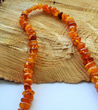 Untreated amber necklace, vintage amber,  orange amber,necklace for her - UAB Amber