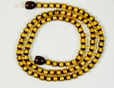Green faceted necklace, baltic amber,  5 mm. faceted amber beads, ambre baltique, ambra baltica - UAB Amber