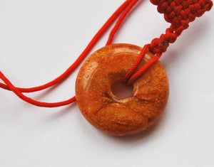 Amber pendant,vintage amber donut,amber amulet,pendant for luck,amber,琥珀 - UAB Amber