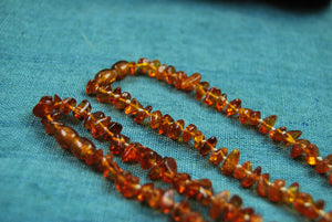 Amber teething necklace, natural baby teething necklace,amber for kids, hand knotted   atural amber - UAB Amber
