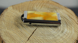 Amber USB,  flash drive, 8 GB, amber mosaic,untreated amber,unique gift - UAB Amber