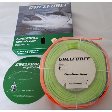 Gaelforce: Equalizer Spey line 83 ft / 25.29m head 8/9# 53grams/817grains