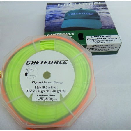 Gaelforce: Equalizer Spey line 63 ft /19.20m head 11/12# 56grams 848grains