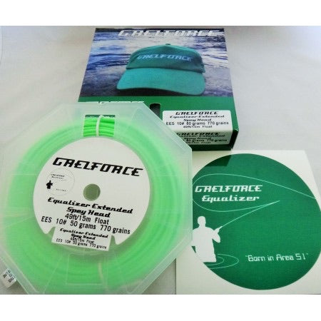 Gaelforce: Equalizer Extended Spey Head 10# 50grams 770grains 49ft/15m