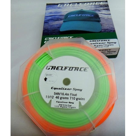 Gaelforce: Equalizer Spey line 54 ft / 16.45m head 11/12# 46grams 710grains