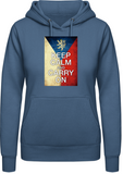 Keep calm and carry on - AWDis Hoodie Dámská - Forces.Design