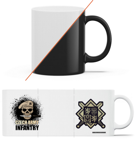 Czech infantry - magický hrnek Black mug - Forces.Design